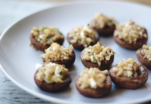 rice and feta stuffed mushrooms | FoOd :) | Pinterest