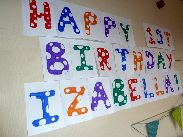 diy birthday banner kids party ideas pinterest