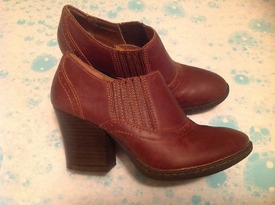 Women's BORN CONCEPT Ankle Leather Boots Western Size 6M