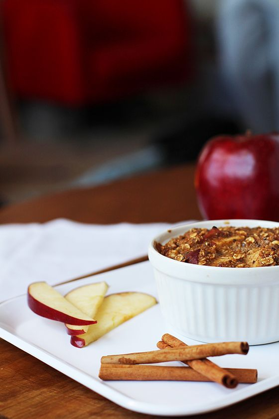 Eat Real Healthy Food | Baked Apple Pie Oatmeal | http ...