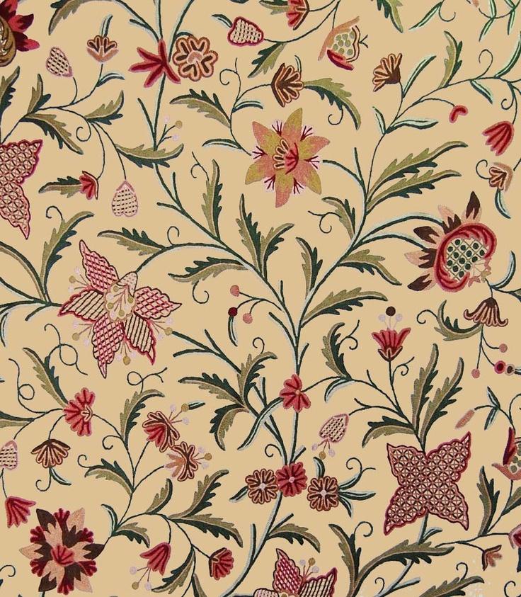 Best Of Kashmir Custom Crewel Fabric Fabric Pinterest