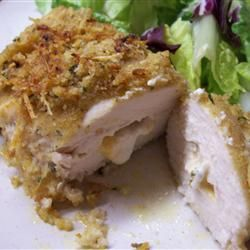 "Double-Stuffed Chicken ""Chicken breasts stuffed with Cheddar and cream ..."