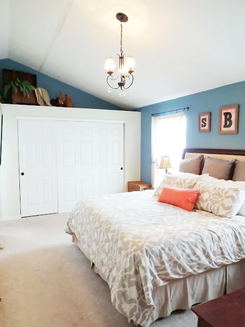 blue and coral master bedroom decor for the home pinterest