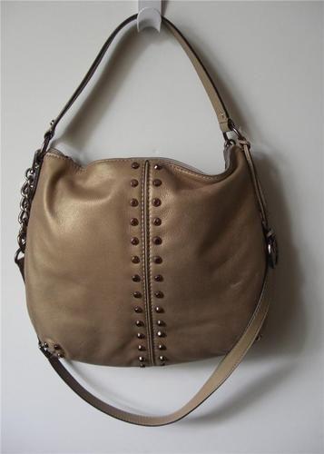 Uptown Astor Large Shoulder Bag Dark Khaki 91