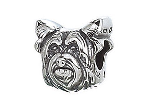 Zable(tm) Sterling Silver Dog Breed-yorkie Bead / Charm Finejewelers ...