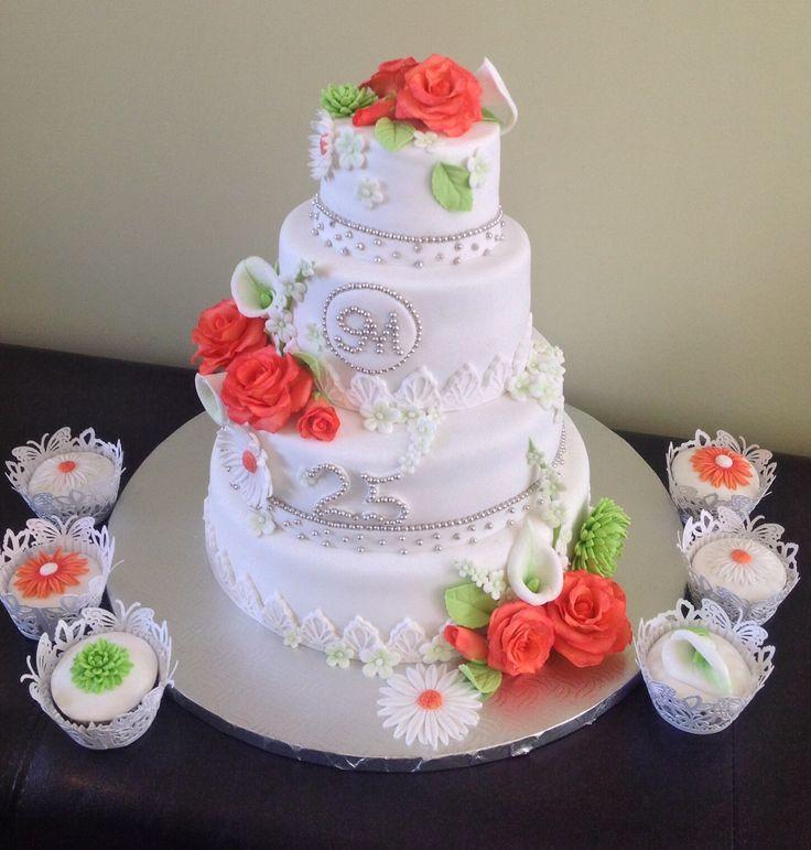 25e anniversaire de mariage  Gâteau  Pinterest
