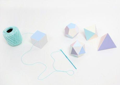 geometric paper garland