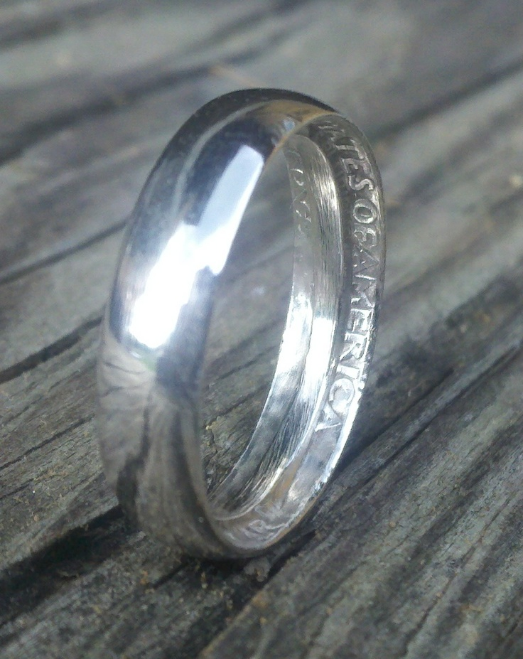 1964 silver quarter ring size 7 anonymous coin rings