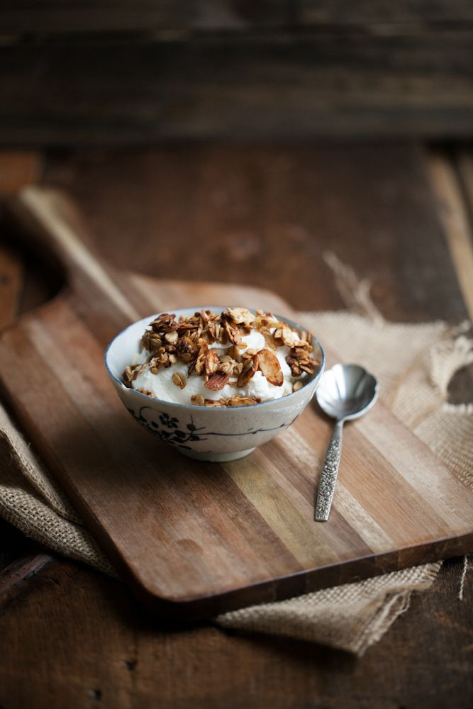 Date-Sweetened Granola - didn't have dates, so I used 1/4 cup maple ...