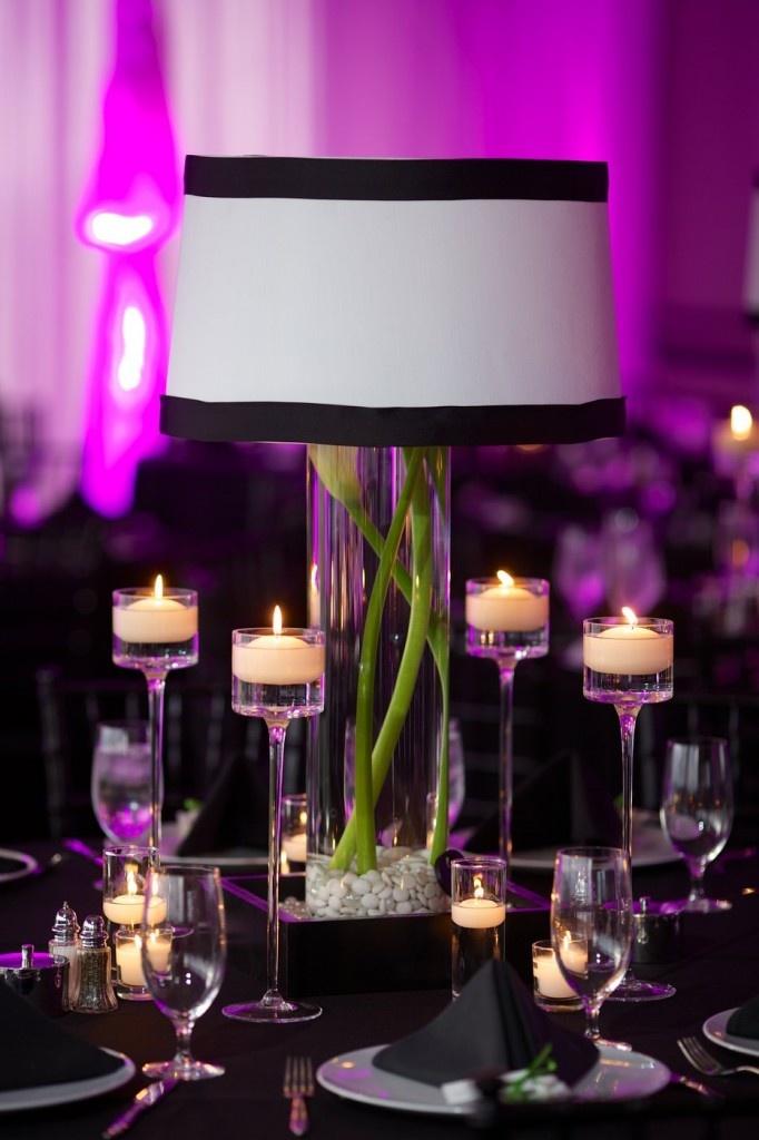Lamp centerpiece wedding stuff pinterest