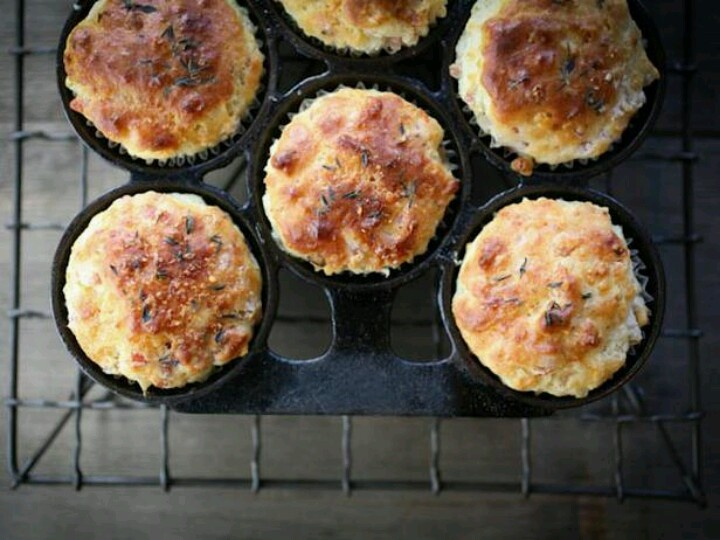 Savory ham and cheese muffins | Recipes | Pinterest