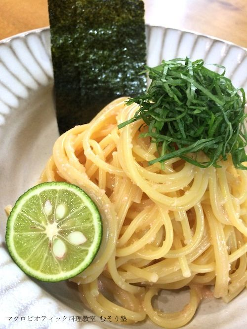 Mentaiko-Pasta (Seasoned cod roe Pasta) | 和食 Japanese-style dish ...