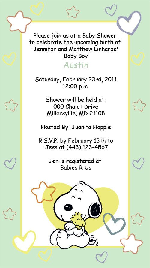 baby snoopy invitations pink blue or green on etsy
