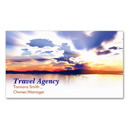 Travel agency business card templates for Travel agency business cards