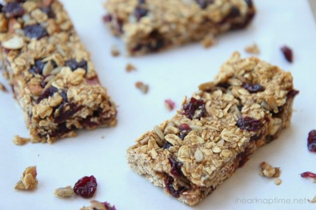 homemade granola bars | Kid recipes | Pinterest