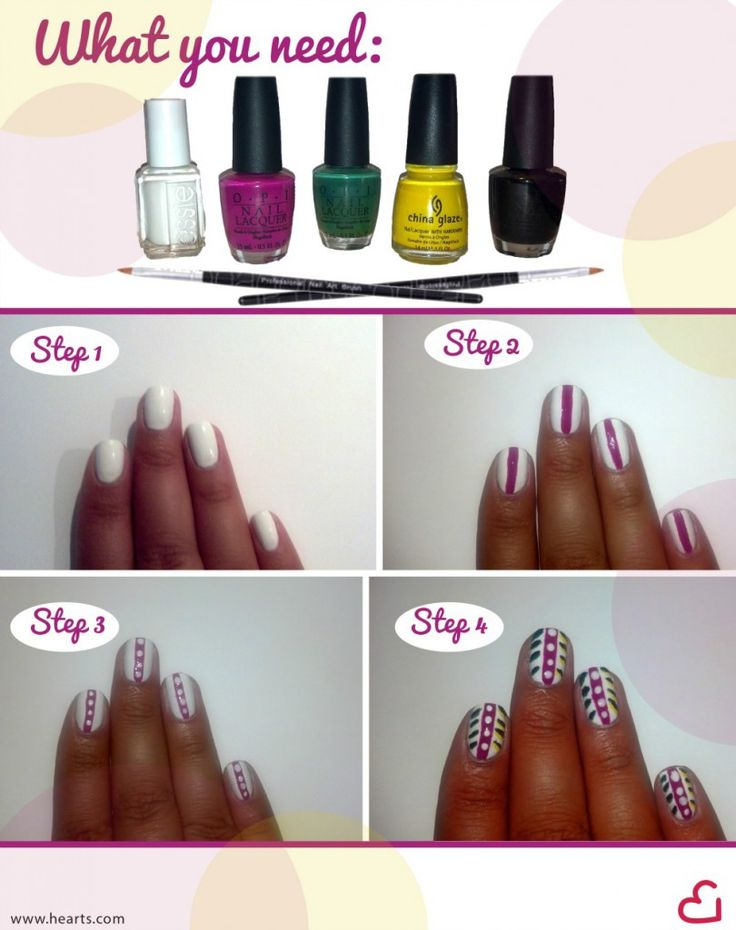 Diy Summer Nail Art Diy Fashion Pinterest