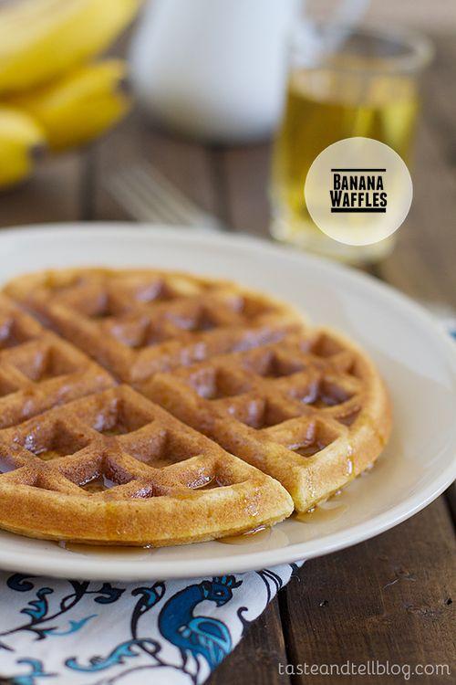Banana Waffles | breakfast | Pinterest
