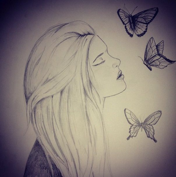 Butterfly drawings tumblr butterfly drawing