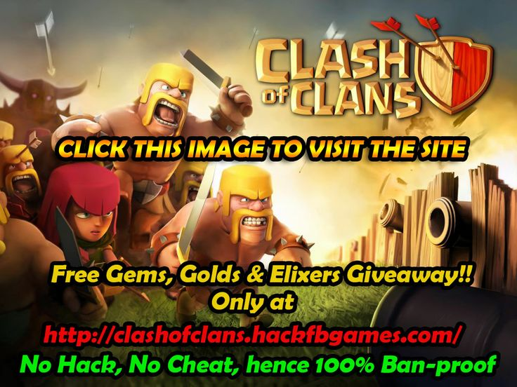 """Clash of Clans is a popular iPad/iPhone/iPod/Android game created by """"Supercell"""". It has been available internationally on the iTunes store for free since its initial v1.7 release on 2 August 2012. I am giving away free gems, golds & elixers  (no hack or cheats) only at http://clashofclans.hackfbgames.com/"""