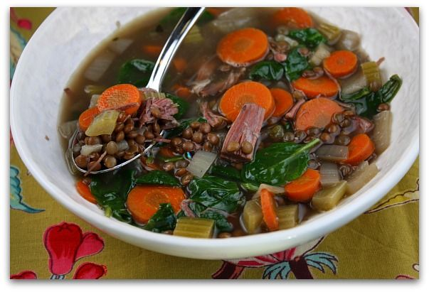 Ham and Lentil Soup   Recipe
