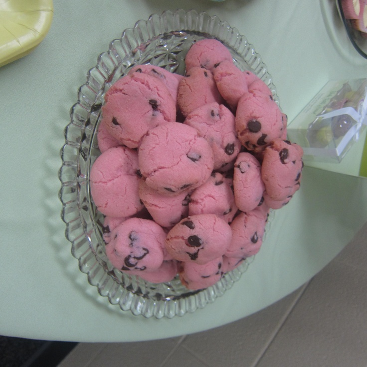 Pink Chocolate Chip Cookies | Cookie Recipes and Fun Food Ideas. | Pi ...