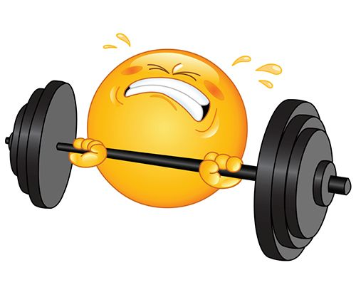 Gym weights clipart