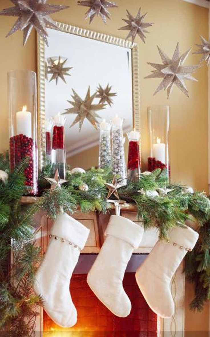 pinterest christmas 2013 decorations | Here we give you some cute Christmas mantel decorating ideas pictures: