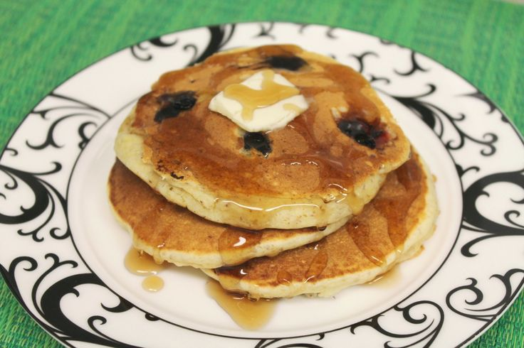 Blueberry-Flax Buttermilk Pancakes | - Sweet Stuff | Pinterest