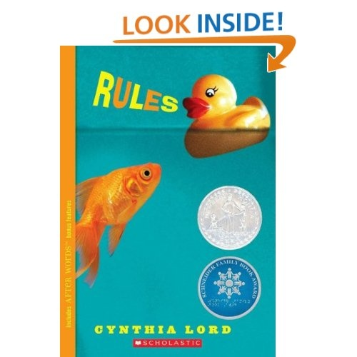 Rules by cynthia lord a reader lives a thousand lives pinterest