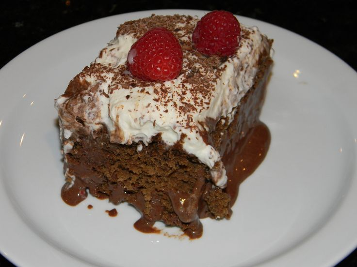 Chocolate Tres Leches Cake with Fresh Whipped Cream & Raspberries | R ...