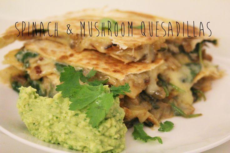 Spinach & Mushroom Quesadillas | Senior Cooking Group | Pinterest