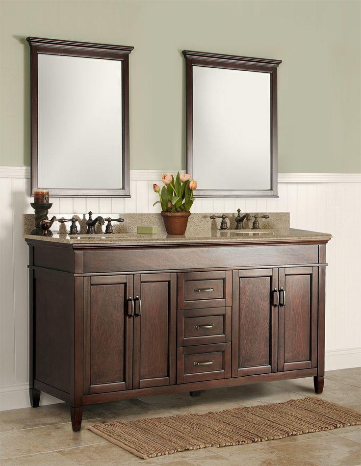 Ashburn 60 inch bath vanity home depot home ideas pinterest for Home depot 60 inch bathroom vanity