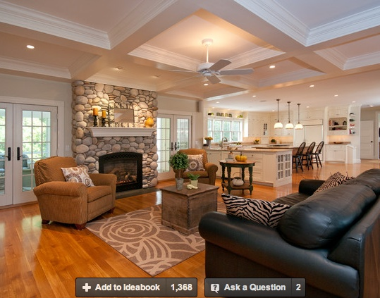 nice great room open to the kitchen living rooms great