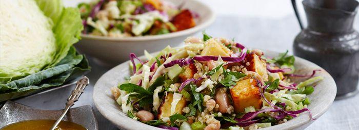 Quinoa, Cabbage and Haloumi Salad | Salads & Sides | Pinterest