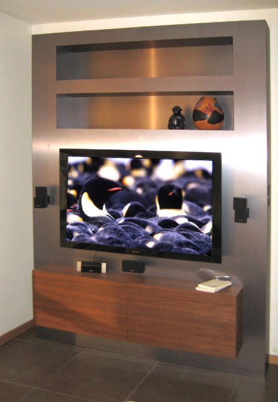 Man Cave Shelves : Stainless steel with recessed shelves man cave pinterest