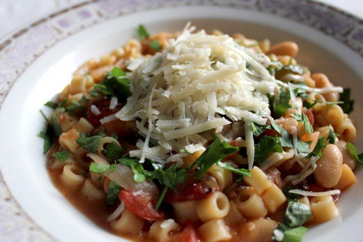 vegetarian pasta e fagioli
