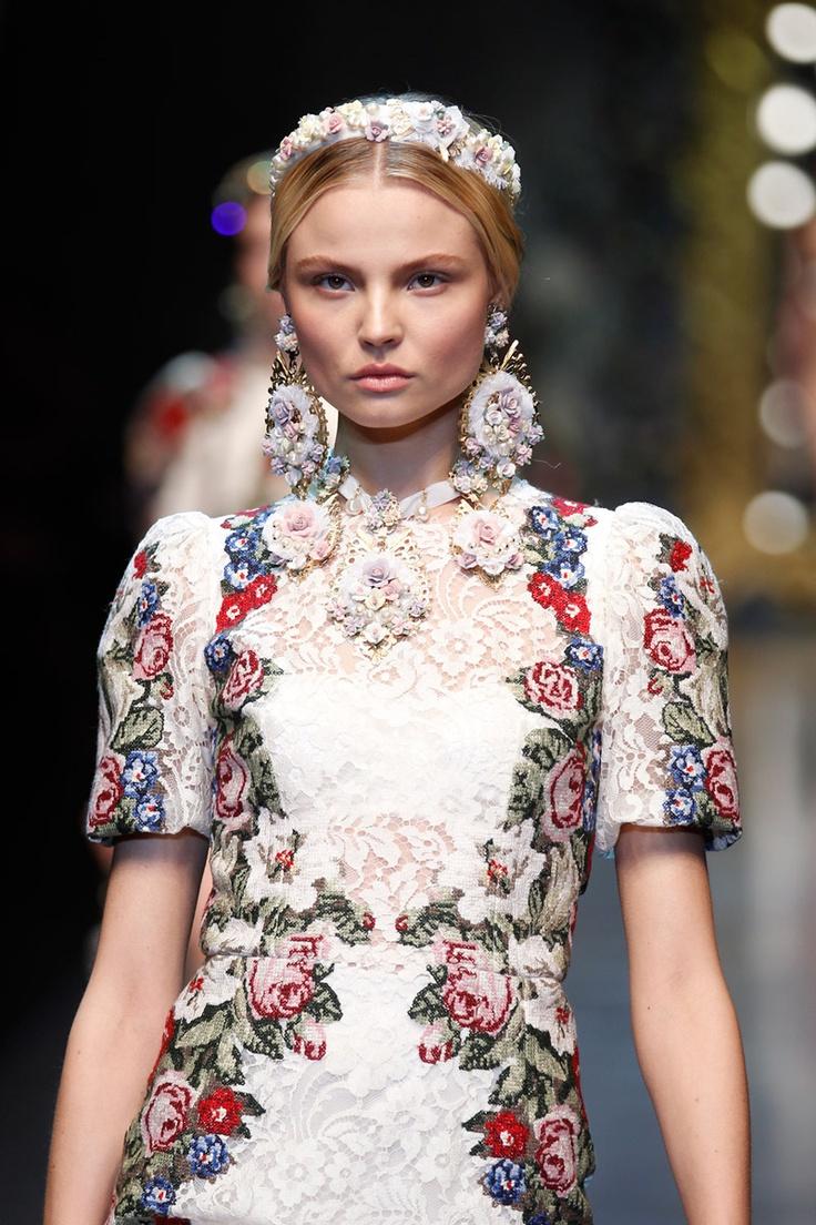 Dolce & Gabbana Needlepoint Lace Dress
