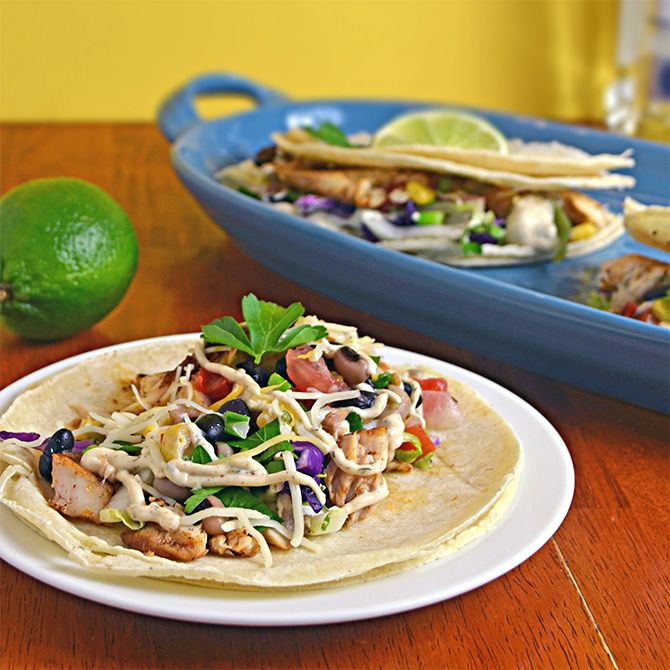 Margarita Fish Tacos with Chipotle Lime Sauce -- delicious. Fish was ...