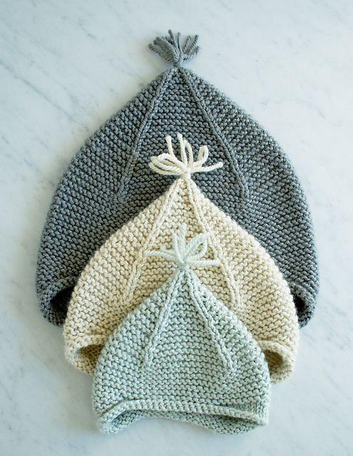 Earflap Hat Knitting Pattern Free : Garter Ear Flap Hat by Purl Soho Knits (For Little Ones) Pinterest