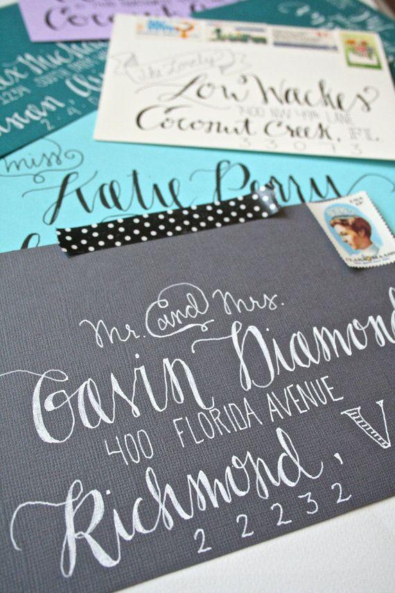 Hand Addressed Envelopes Custom Wedding Calligraphy