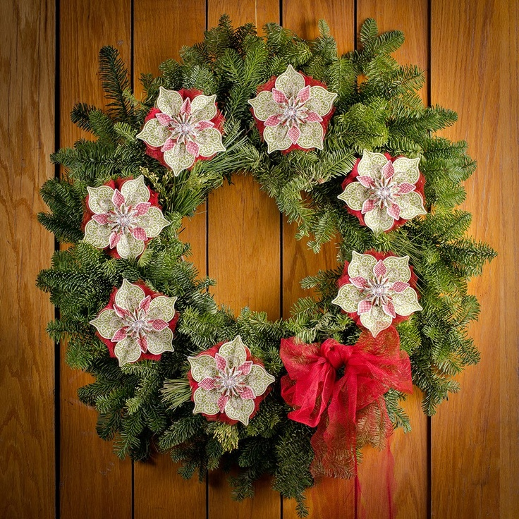 Beautiful holiday wreath decorated with ornaments from the Ornamental Elegance kit.