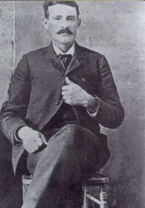 "Tom ""Black Jack"" Ketchum.  A cowboy from San Saba County, Texas who turned to a life of crime and was executed in 1901.  He wrote a rather remarkable letter to President McKinley on his reckoning day."