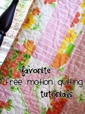 tutorials free motion quilting | Quilts and sewing | Pinterest