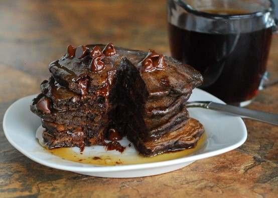CHOCOLATE PANCAKES!! | Recipes | Pinterest