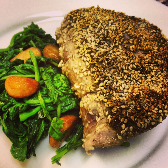 Sesame Crusted Tuna Steaks ---- from my lovely friend Arielle's blog ...