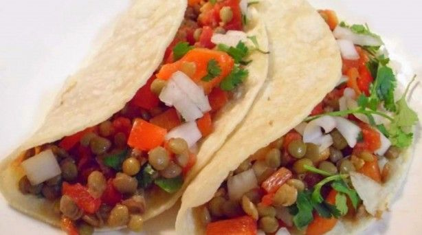 Lentil & Sweet Pepper Tacos