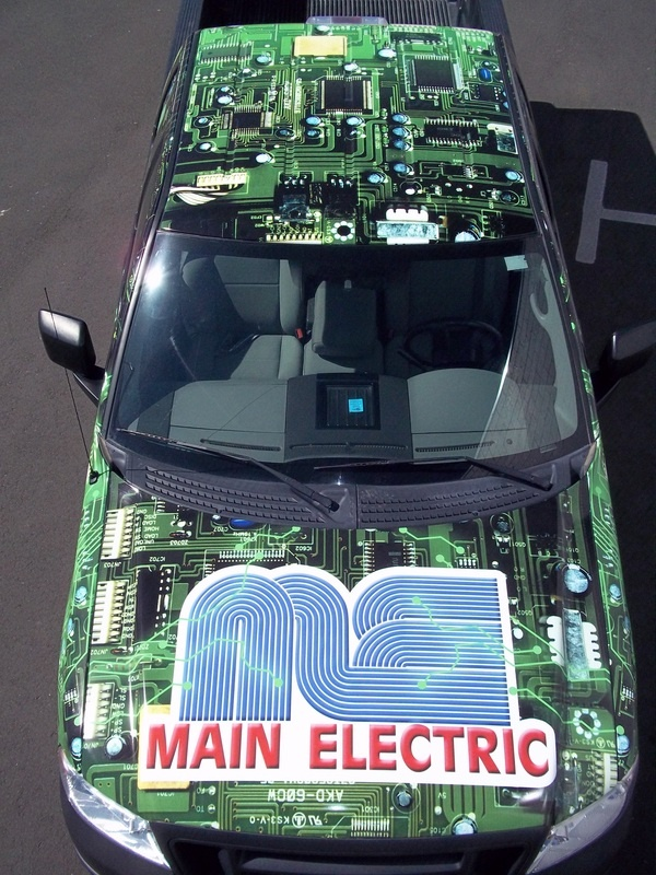 circuit board vehicle vinyl wrap wrapped truck main electric - car painter sample resume