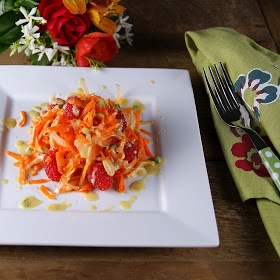 Food: Carrot, Raspberry, Fennel, & Marcona Almond Salad with Creamy ...