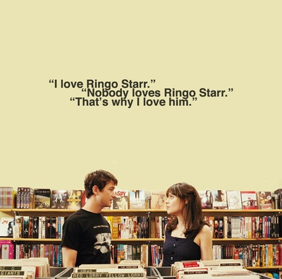 500 DAYS OF SUMMER. So true though. No one loves him. That's why I love him.