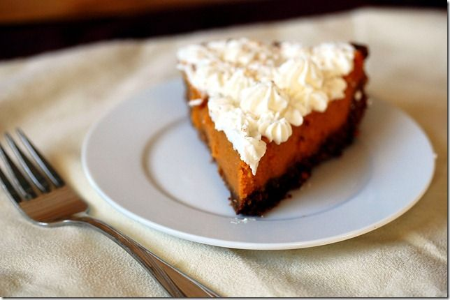 Eggnog Pumpkin Pie with Gingersnap crust | Favorite Recipes | Pintere ...